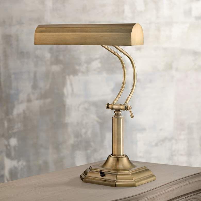 Lite Source Piano Mate Antique Brass Desk Lamp 5p943 Lamps Plus Brass Desk Lamp Desk Lamp Piano Lamps