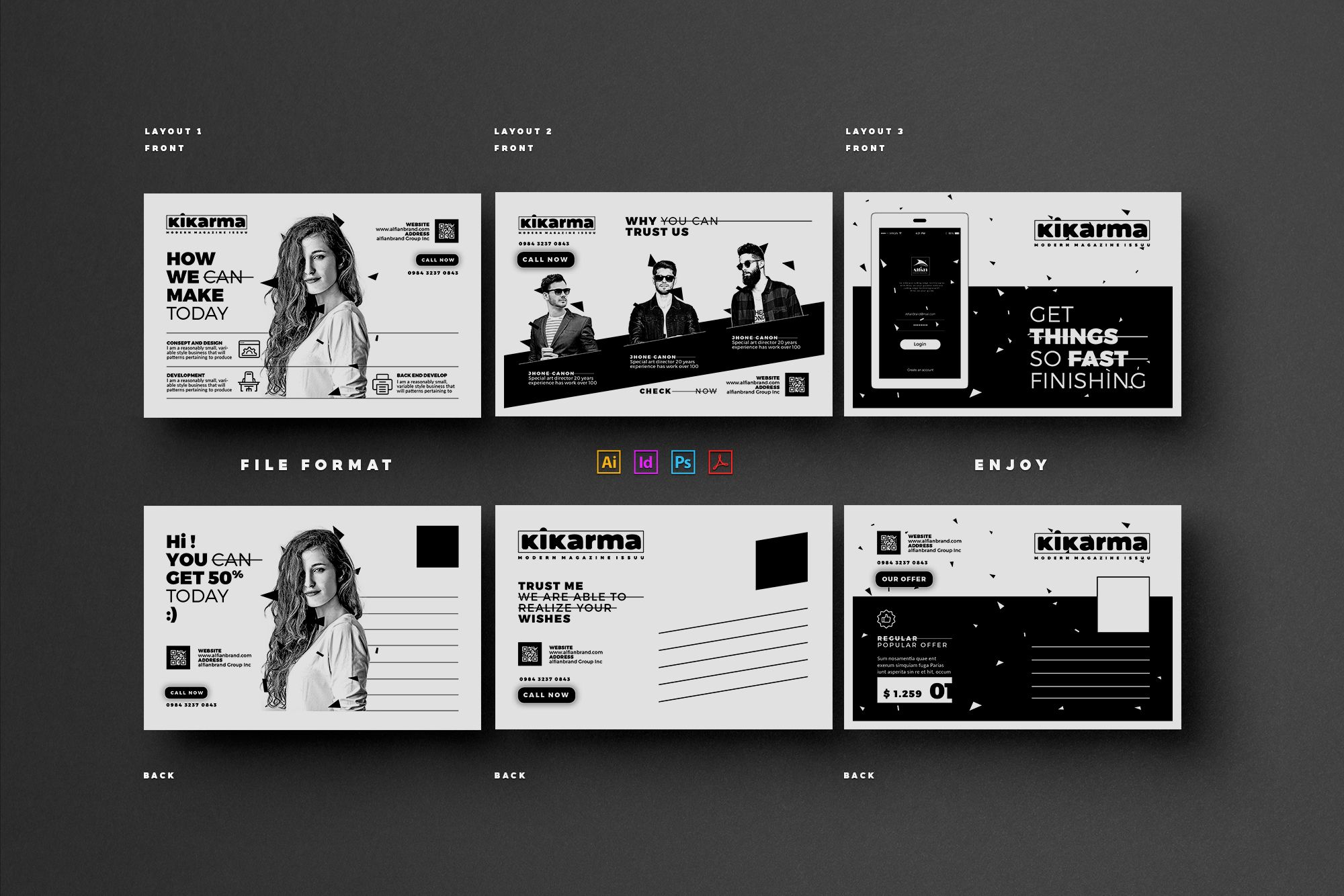 "Check out this @Behance project: ""Marketing Postcard"" https://www ..."