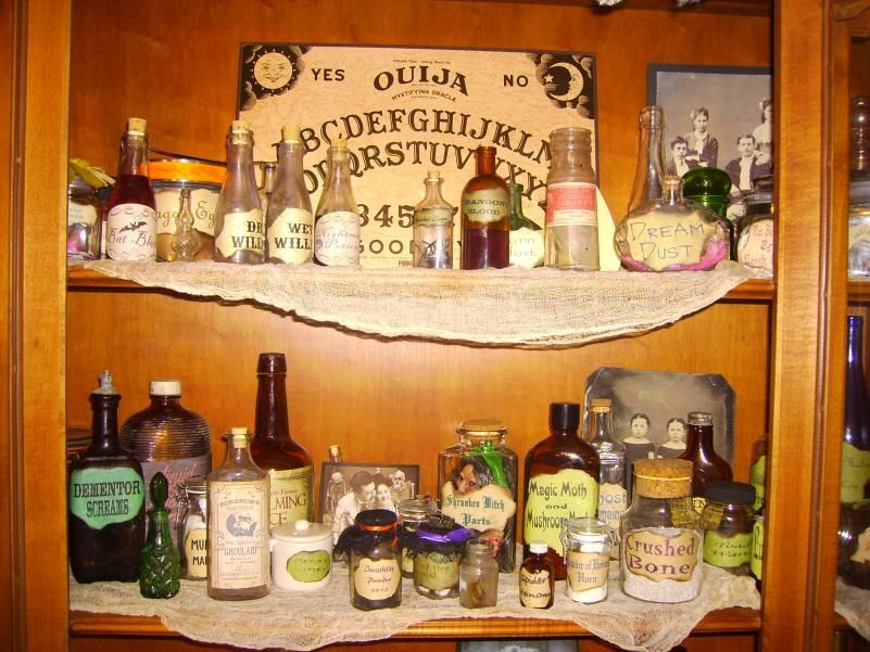 Witche Shelf--Halloween Forum | Witches Tea Party | Pinterest ...