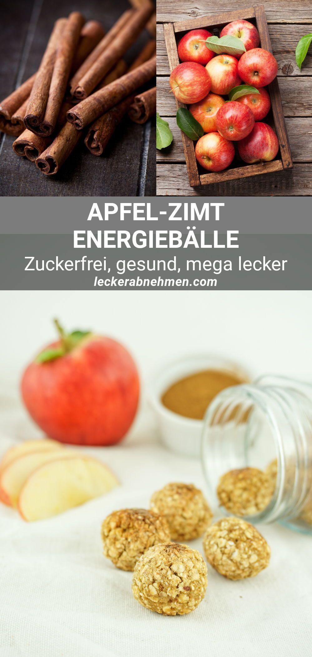 Apfel Zimt Energiebällchen – Gesunder und zuckerfreier Haferflocken Snack
