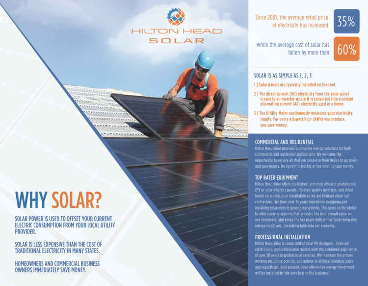 Hilton Head Solar Corporate Brochure Solar Roof Solar Panel Corporate Branding
