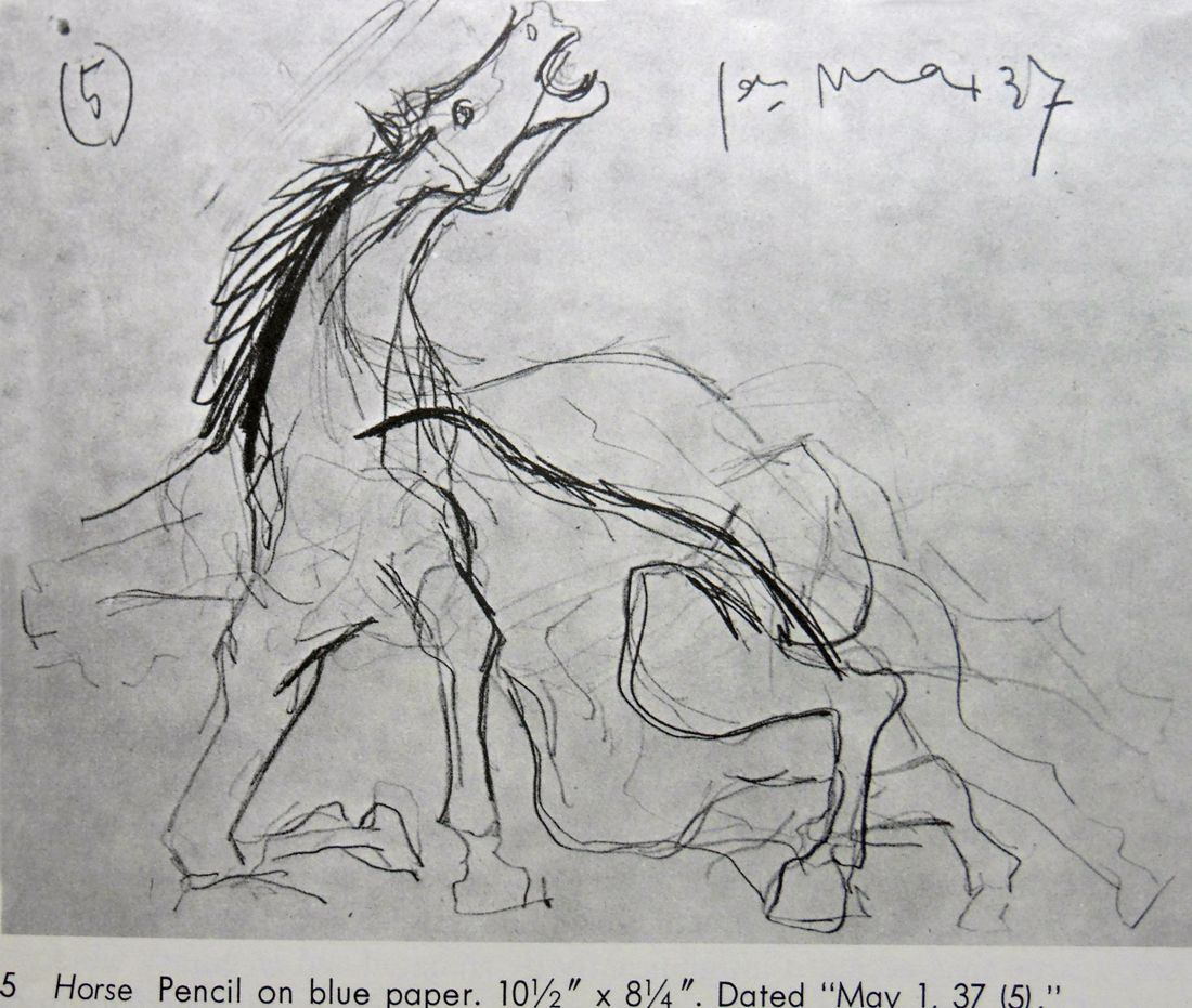 Guernica sketch images of picassos sketches for guernica