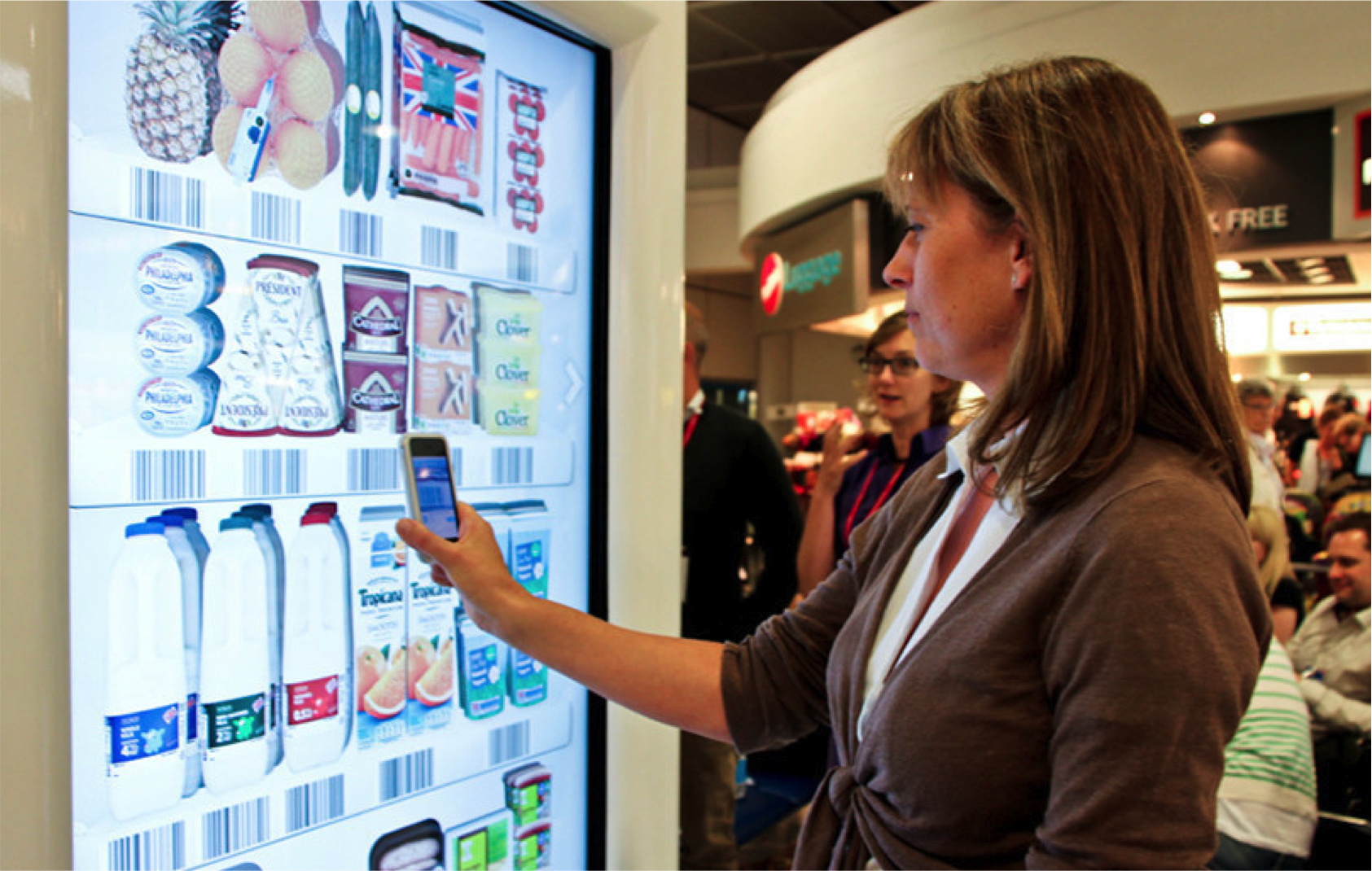 Product Selector at Shelf Virtual grocery store, Retail
