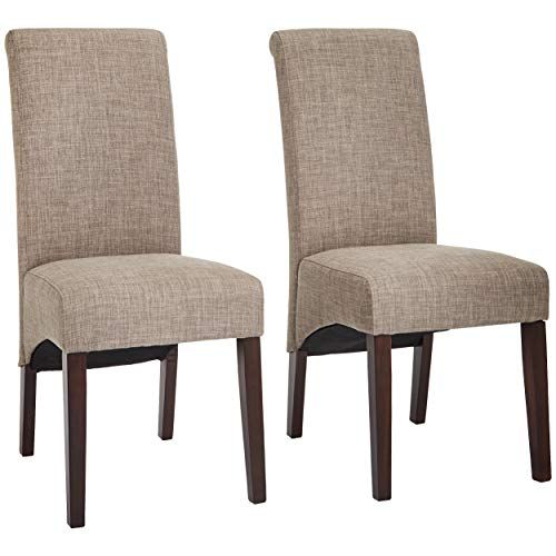 Outstanding Red Hook Coimbra Linen Look Upholstery Parsons Dining Chair Ncnpc Chair Design For Home Ncnpcorg