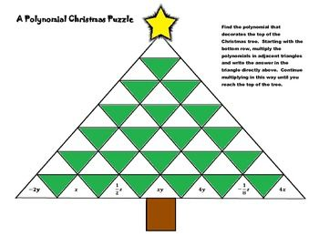 A Polynomial Christmas Puzzle [Multiplying Polynomials Worksheet ...