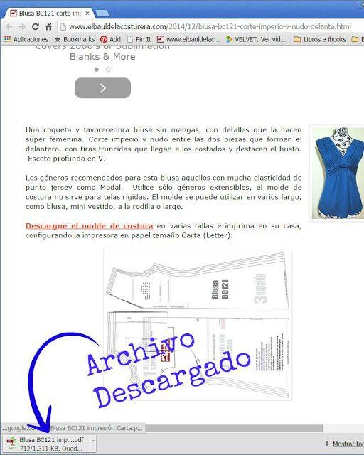Cómo descargar, imprimir y guardar los patrones de costura ...