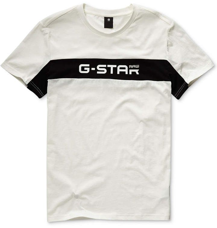 G Star Men Colorblocked Logo Graphic T Shirt | G star raw