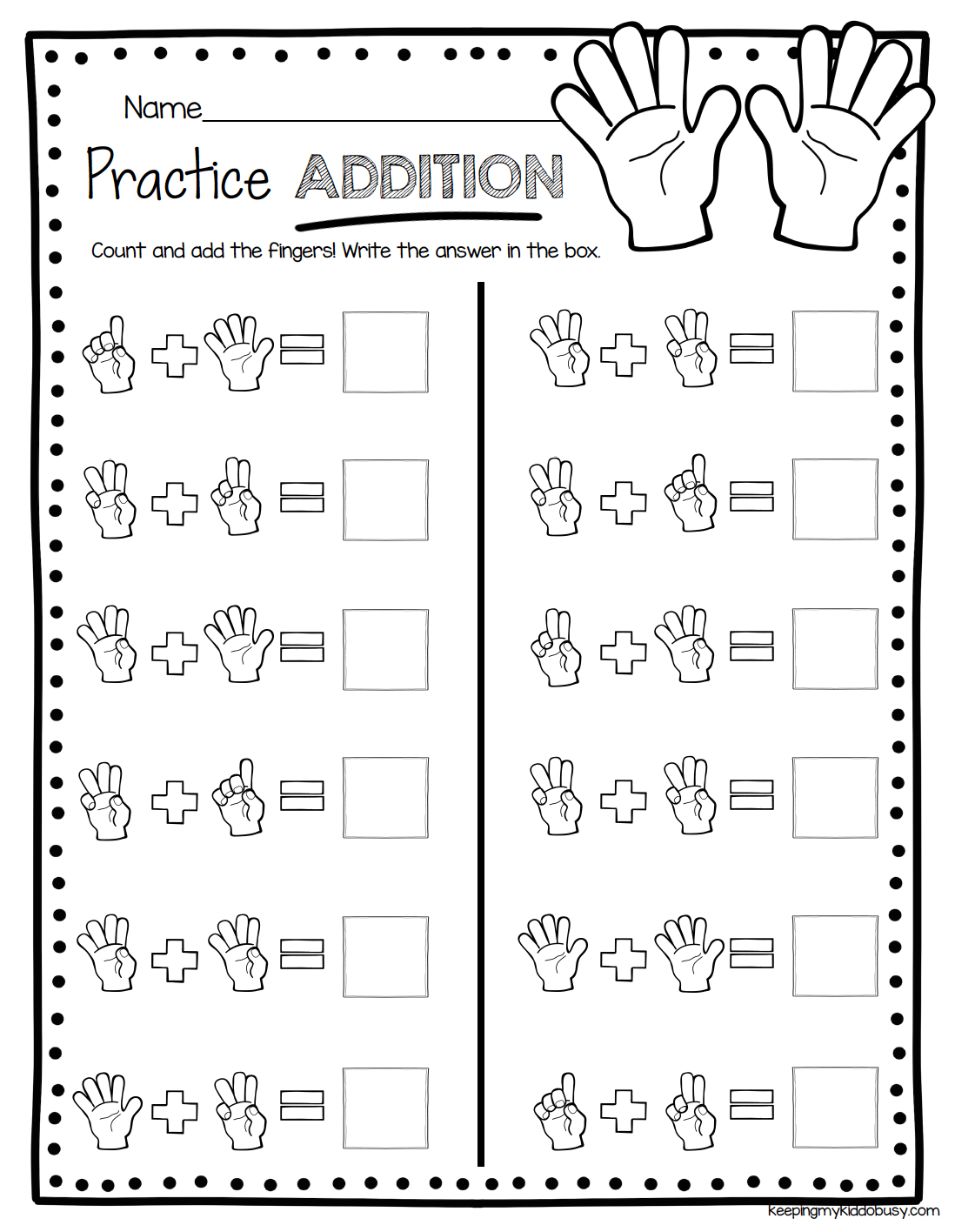 hight resolution of ADDITION - kindergarten worksheets to practice addition - equat…    Kindergarten math worksheets addition