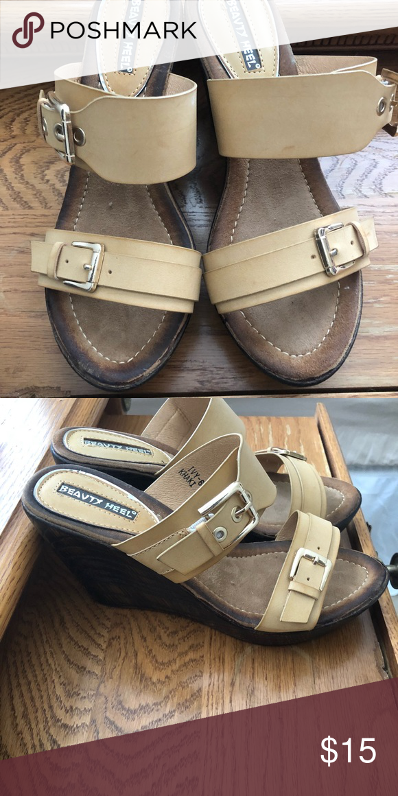 317999749ec Wedge Sandals 7.5 Womens Like New Boutique Brand Smoke Free Home Gold  Hardware Shoes Wedges