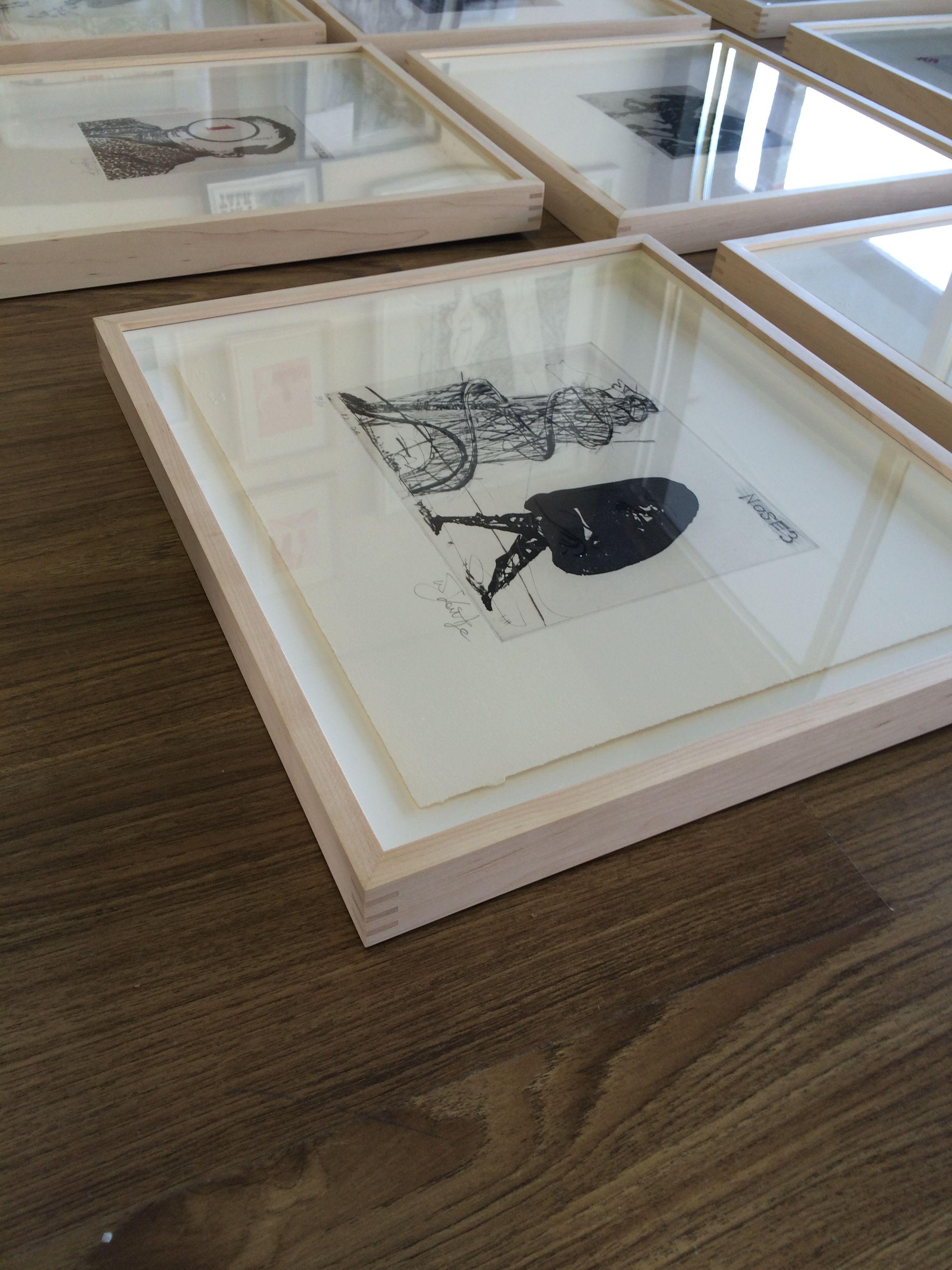 William kentridge prints by nb art and framing float mount in william kentridge prints by nb art and framing float mount in maple hardwood with splines jeuxipadfo Gallery