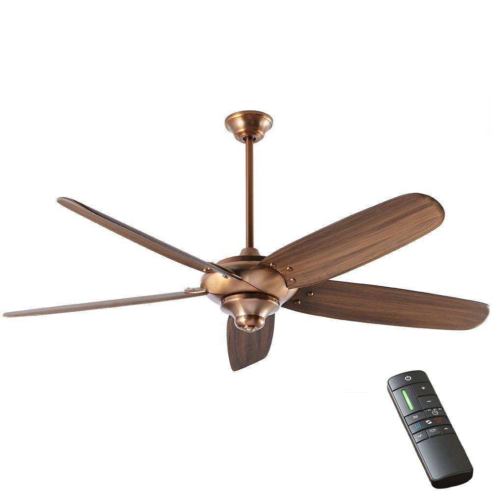 Home Decorators Collection Altura Dc 68 In Indoor Vintage Copper Ceiling Fan With Remote Control Copper Ceiling Fan Vintage Ceiling Fans Ceiling Fan