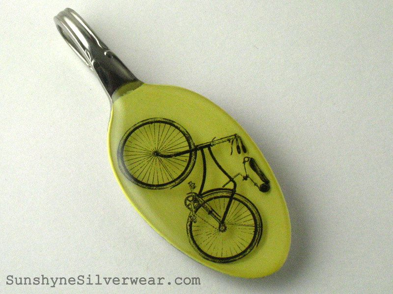 Bicycle necklace, recycled spoon @ sunshynesilverware (on etsy)