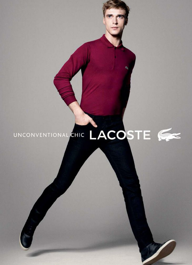 70cd40db9852 Model Clement Chabernaud (IMG Models) becomes the new face of Lacoste  posing in the dynamic campaign photographed by David Sims.