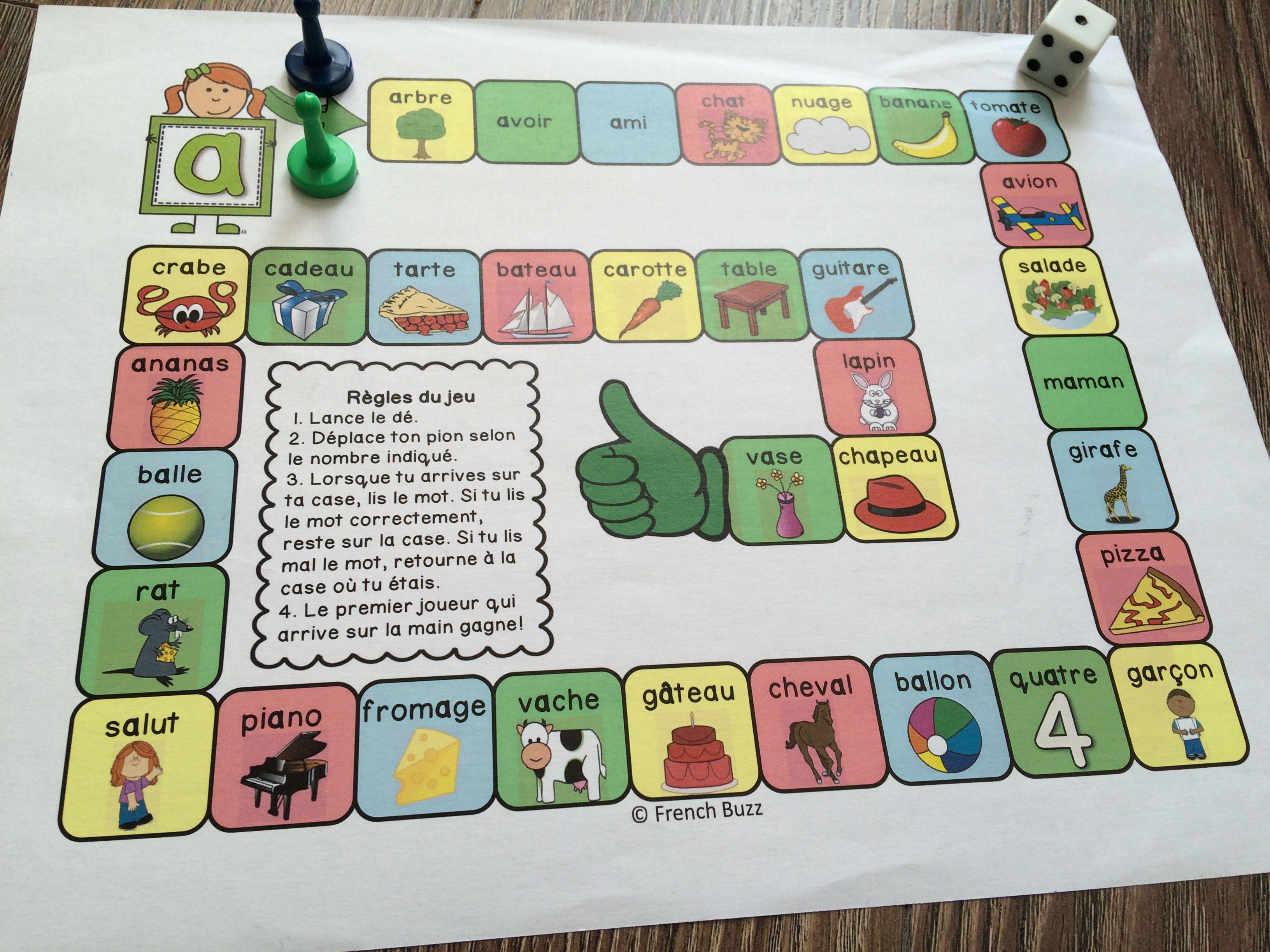 jeu de soci t amusant pour pratiquer la lecture des mots avec le son a activit s enfants. Black Bedroom Furniture Sets. Home Design Ideas