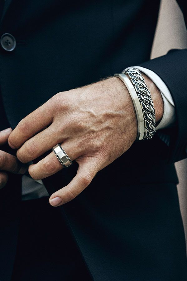Man about town in sterling silver style by David Yurman Jewelry
