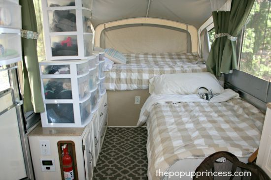 How We Organize Our Pop Up Camper Camping