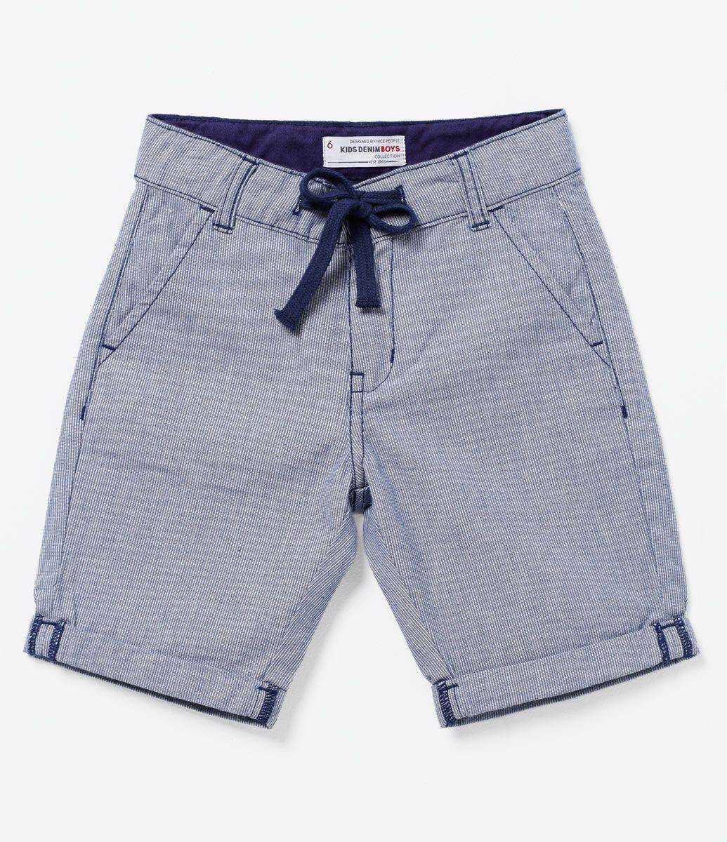 026479139a6283 Bermuda Infantil Barra dobrada Amarração de cordão na cintura ...