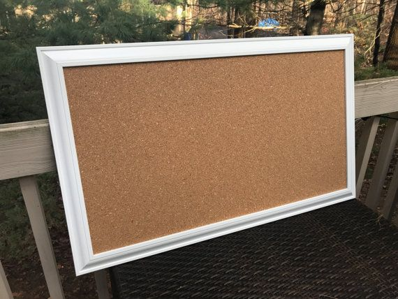 Long and Narrow Framed CORK BOARD Bulletin Board & Memo