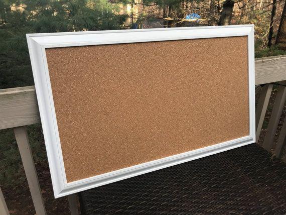 Long and Narrow Framed CORK BOARD Bulletin Board & Memo