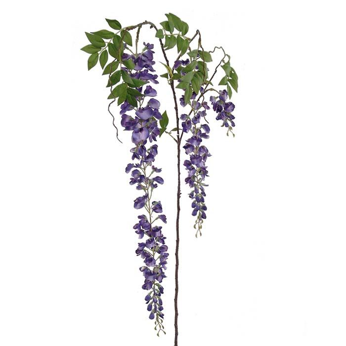 Silk Purple Wisteria Bushes... if you wanted plumb accent...