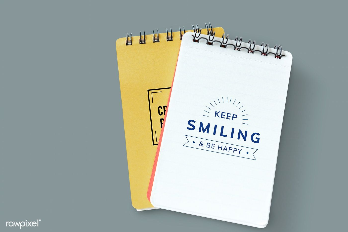 Download Premium Psd Of Badge On A Plain Notebook Mockup 531808 Plain Notebook Design Mockup Free Mockup