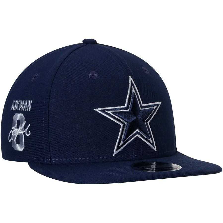 60abdf9d231 Men s Dallas Cowboys Troy Aikman New Era Navy Valued Pin 9FIFTY Adjustable  Snapback Hat