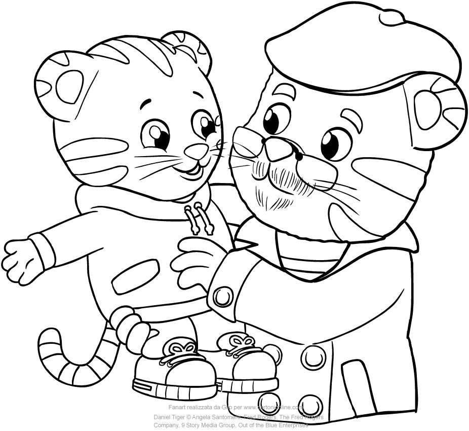 Image result for daniel tiger coloring pages | Daniel tiger birthday ...