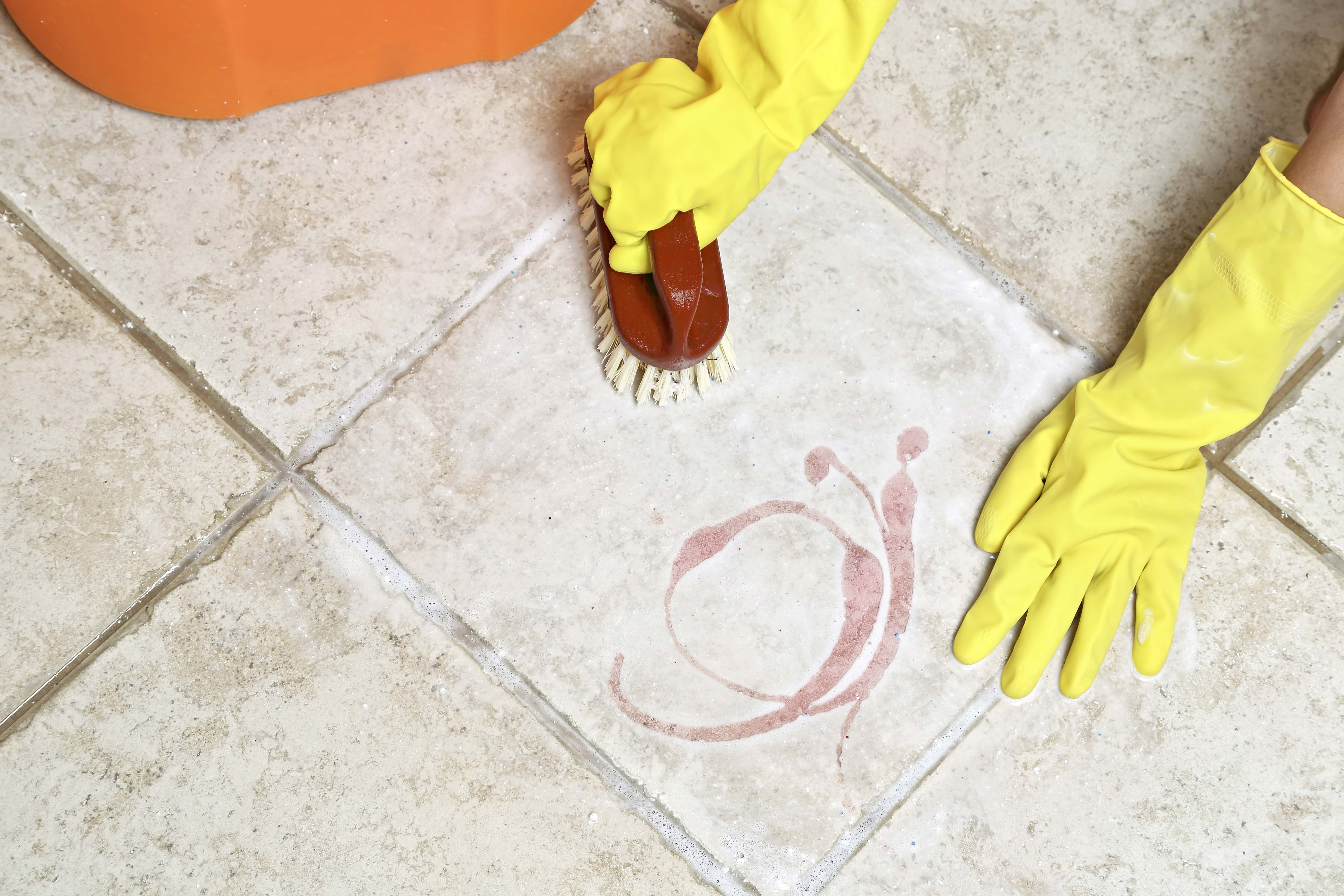 Generally, cleaning a concrete floor or wooden floor
