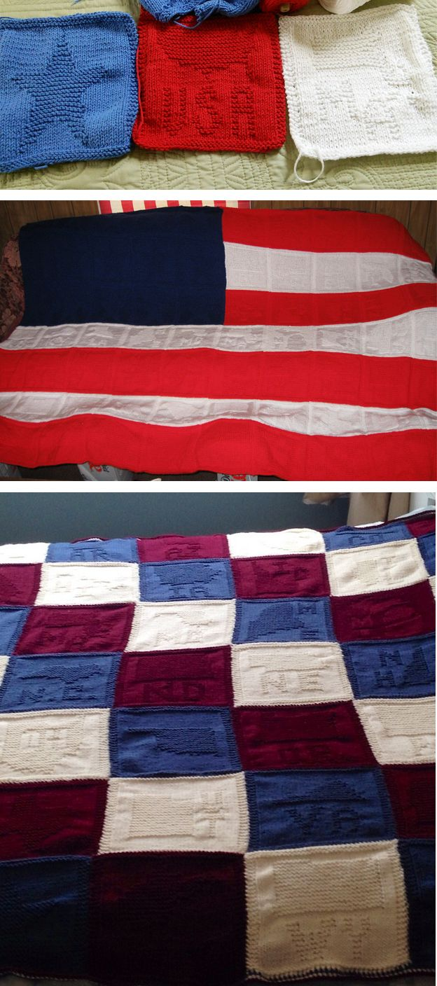 Free knitting pattern for united states of us state blocks for free knitting pattern for united states of us state blocks for american flag afghan you bankloansurffo Image collections