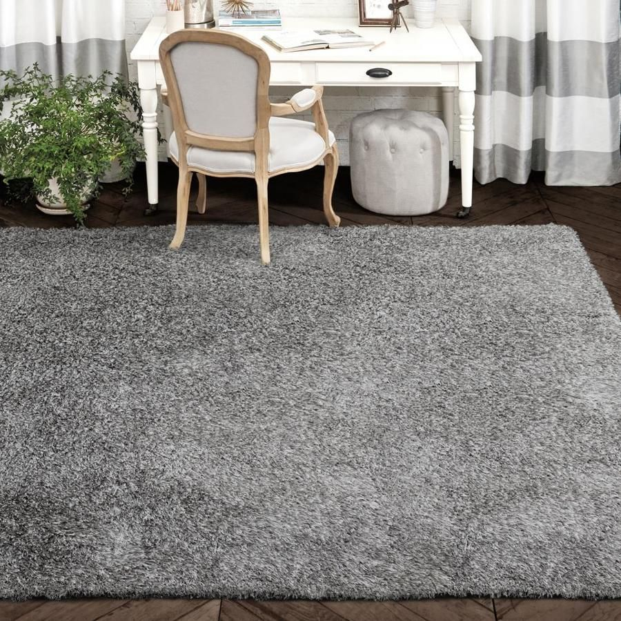 Allen Roth Korleigh Shag Gray Indoor Area Rug Common 10 X 12 Actual 10 Ft W X 12 Ft L Lowes Com Flooring Soft Rug Color Complement [ 900 x 900 Pixel ]