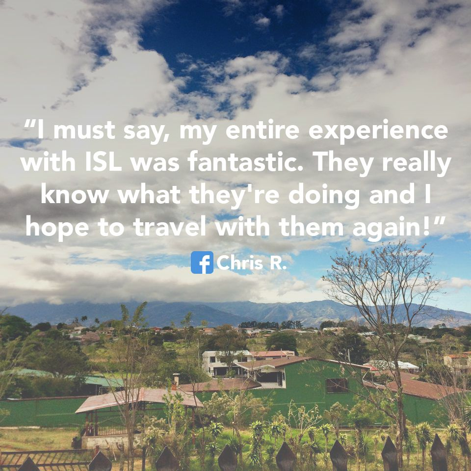 And we hope that you travel again with us too! Thanks for being a volunteer! #ISLonline
