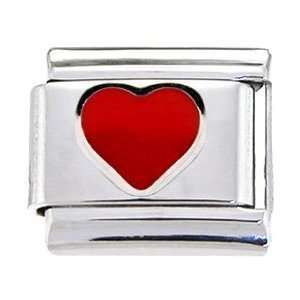 ONE 9mm Italian Charm Link Cutie Pie In Red Or White Heart