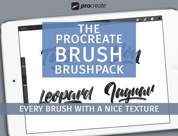 Brush brushpack for Procreate Lettering, App design