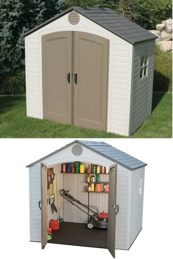 Small Outdoor Storage Sheds With Modern Styling 8 X 5 Ft Low Maintenance Resin Shed Weather Resistant Durable Sy Easy To Clean