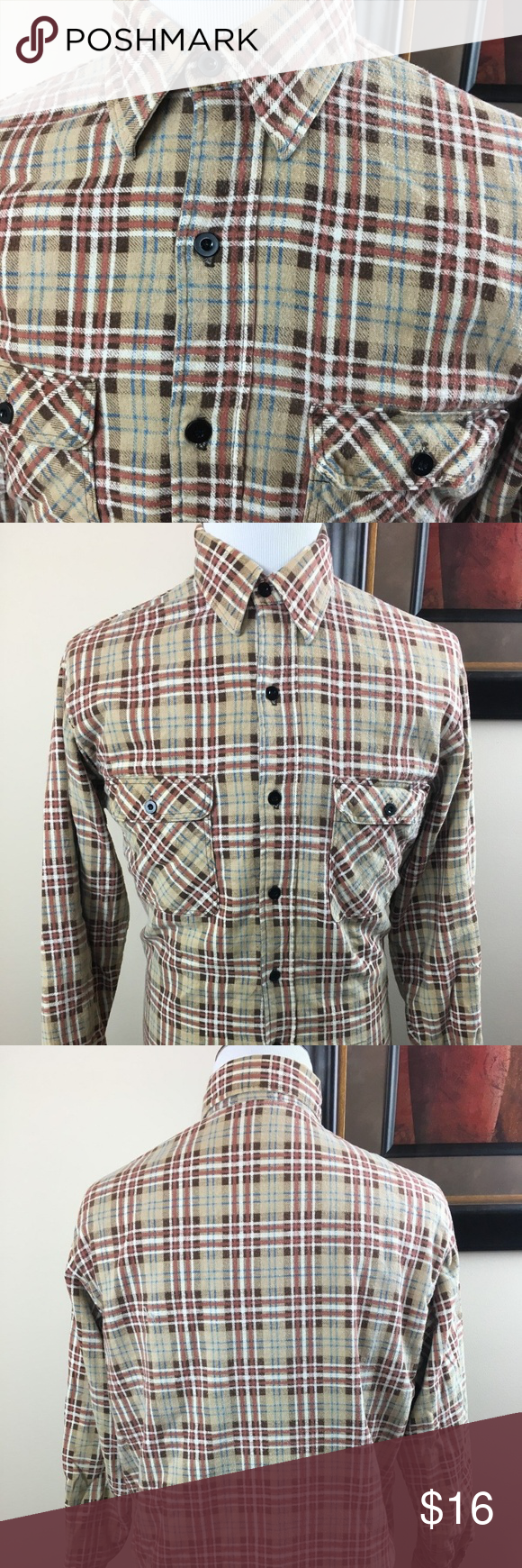 Retro flannel shirts  JCPenney Mens Shop Vtg Plaid Quilted Flannel Shirt  My Posh Picks
