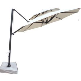 Shop Southern Patio 11 Beige Patio Umbrella At Lowes Com Rectangular Patio Umbrella Cantilever Patio Umbrella Umbrella