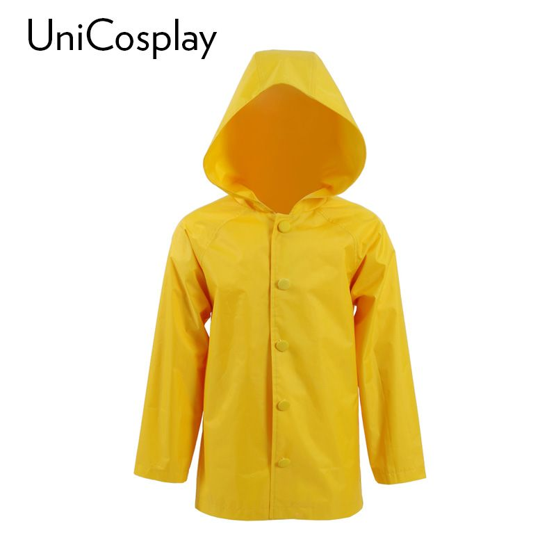 Kid/'s Stephen King/'s It Georgie Denbrough Yellow Raincoat Jacket Cosplay Costume