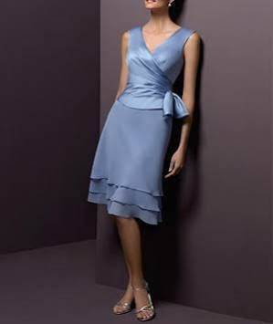 mother of the bride dress (short) in lavender - Google Search - I like it!