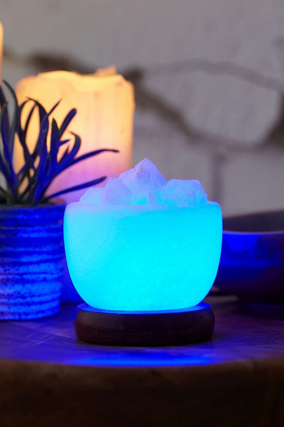 Himalayan Salt Bowl Of Ice Mini Lamp   Urban Outfitters
