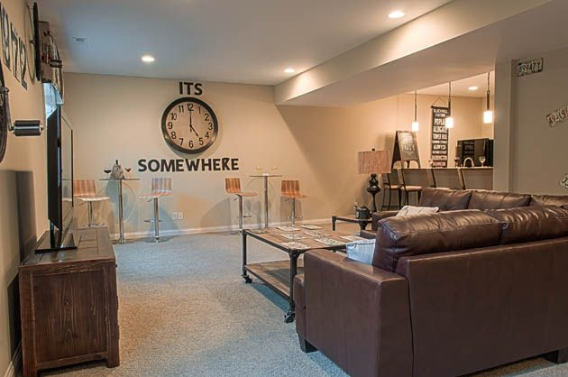Fischer Homes Stanton Finished Basement New Homes Home Finishing Basement