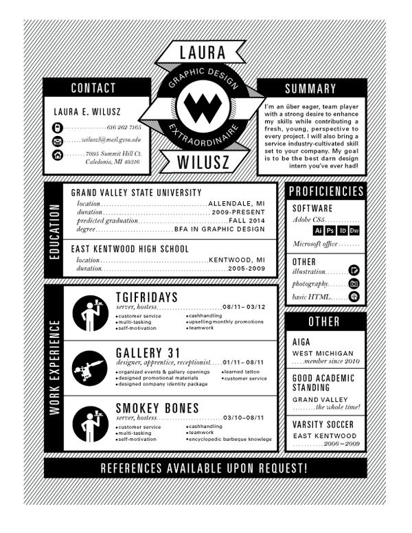 very cool style for a creative resume