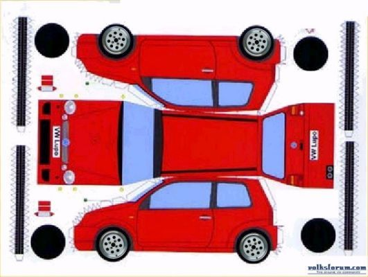 vw golf mk 1 recortables coches t vw paper craft. Black Bedroom Furniture Sets. Home Design Ideas