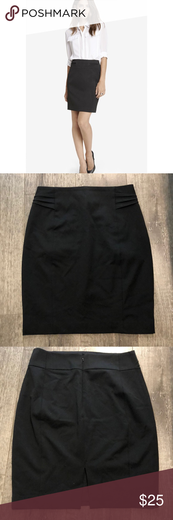 Express Black Pencil Skirt Cute *lined* pencil skirt from Express. Sits a little...