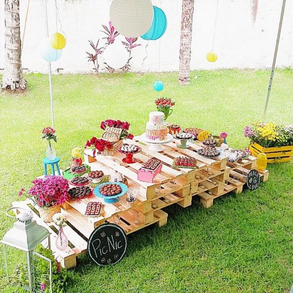 Los palets de madera como candy bar decoraci n en 2019 - Palets para decoracion ...