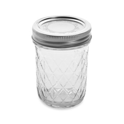 Ball Crystal Quilted 12 Pack 8 Oz Glass Canning Jars Canning