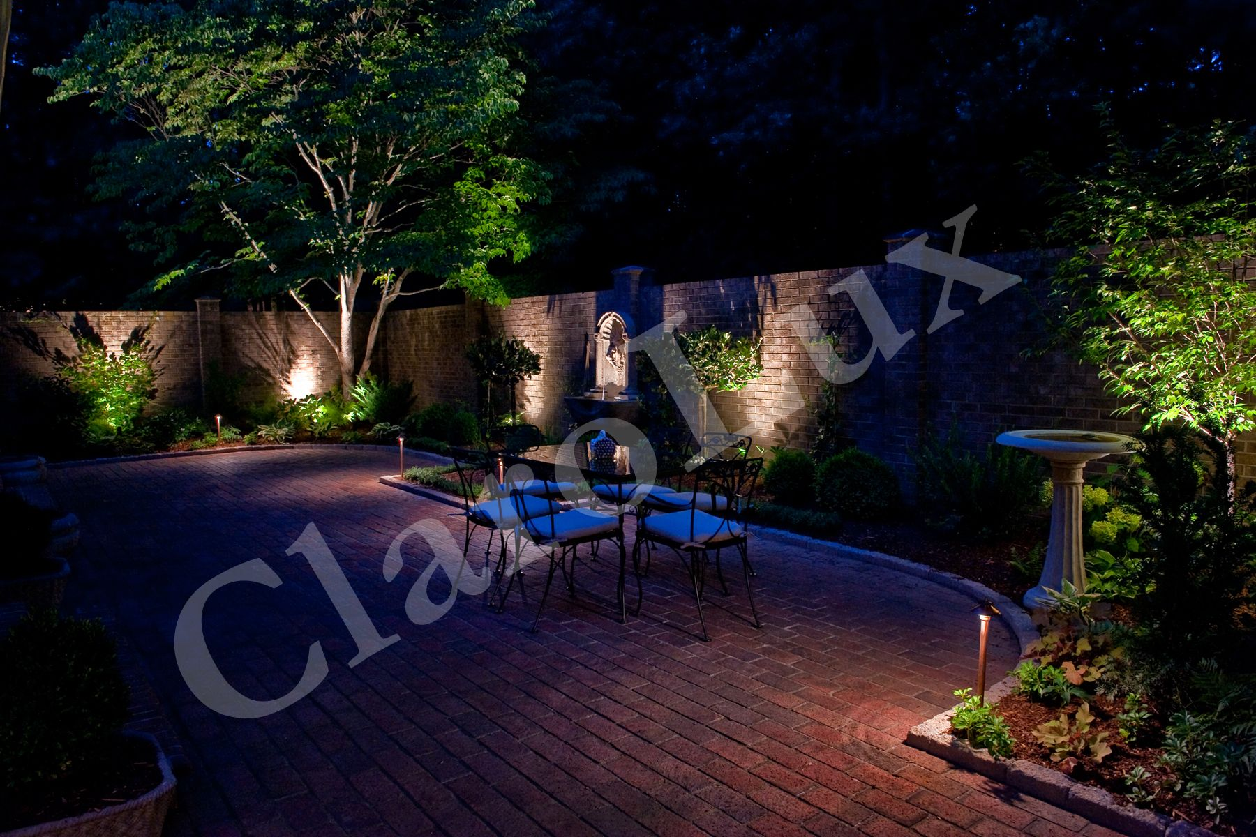 Clarolux landscape lighting creating a dramatic backdrop for your one of the top brilliance led suppliers in the landscape lighting world clarolux produces american made outdoor landscape lighting fixtures aloadofball Choice Image