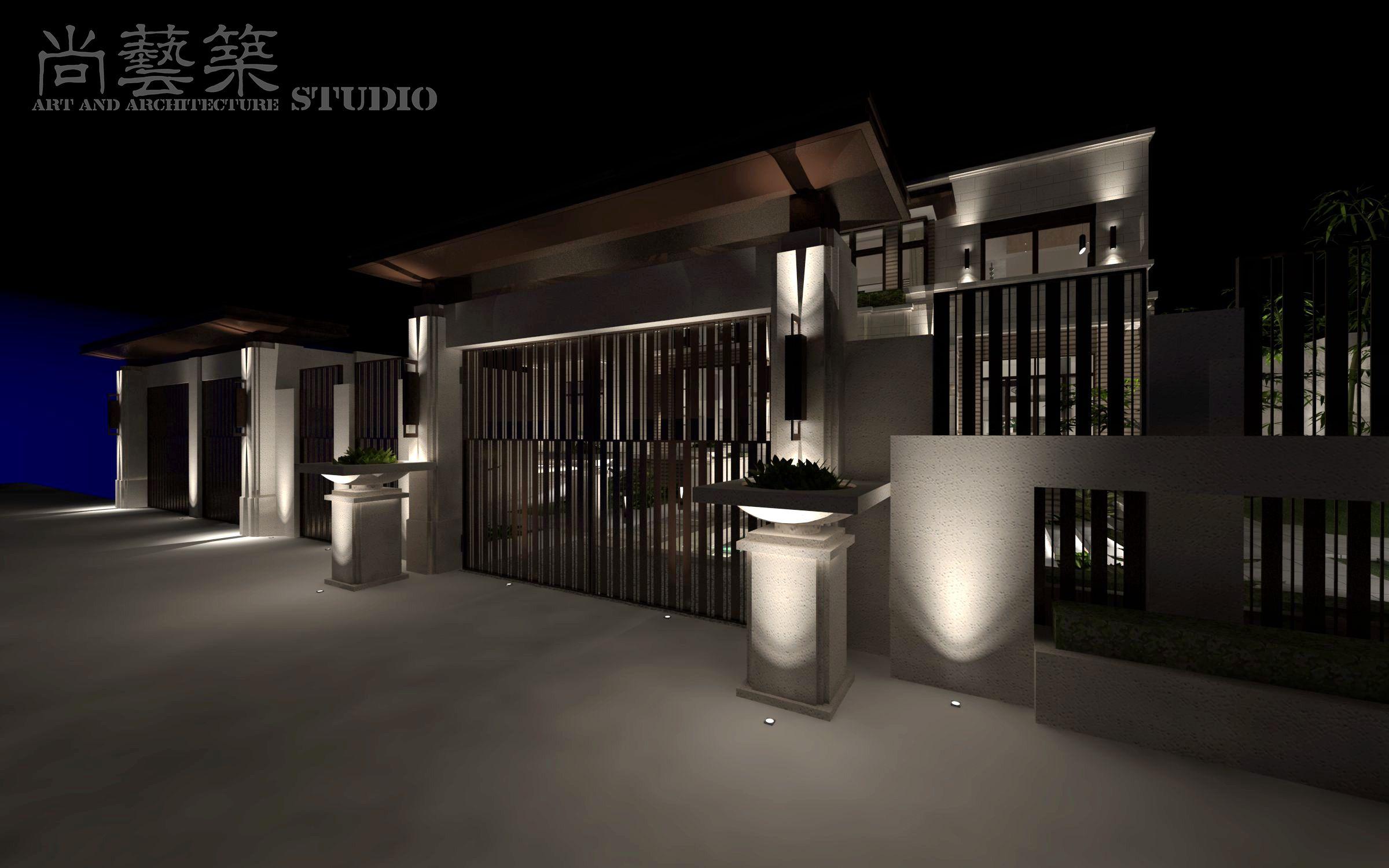 尚艺筑空间艺术设计工作室 私家宅邸建筑景观室内一体化定制设计作品之——鄂宅 Interior design