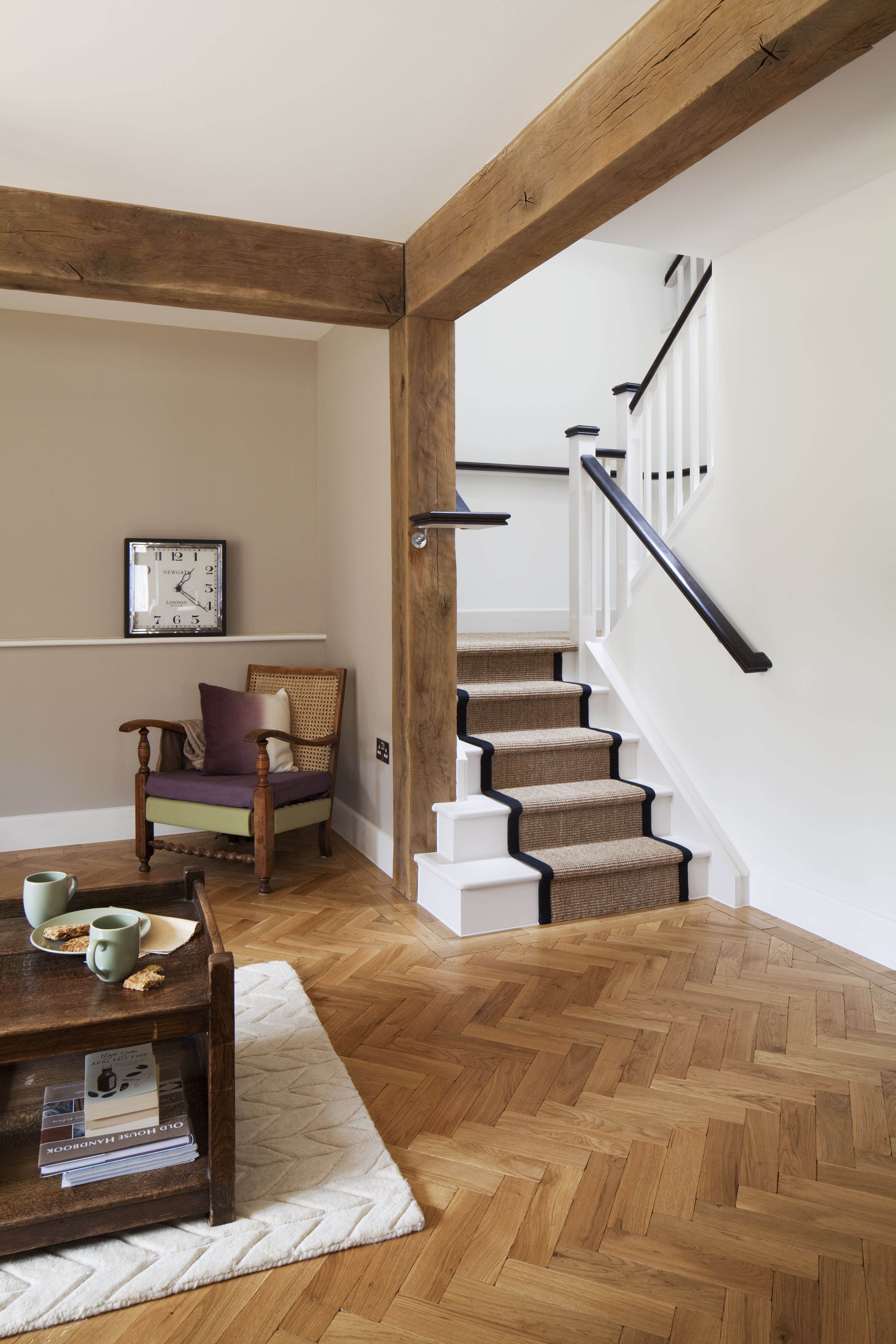 Modern cottage   new build   exposed timber beams ...