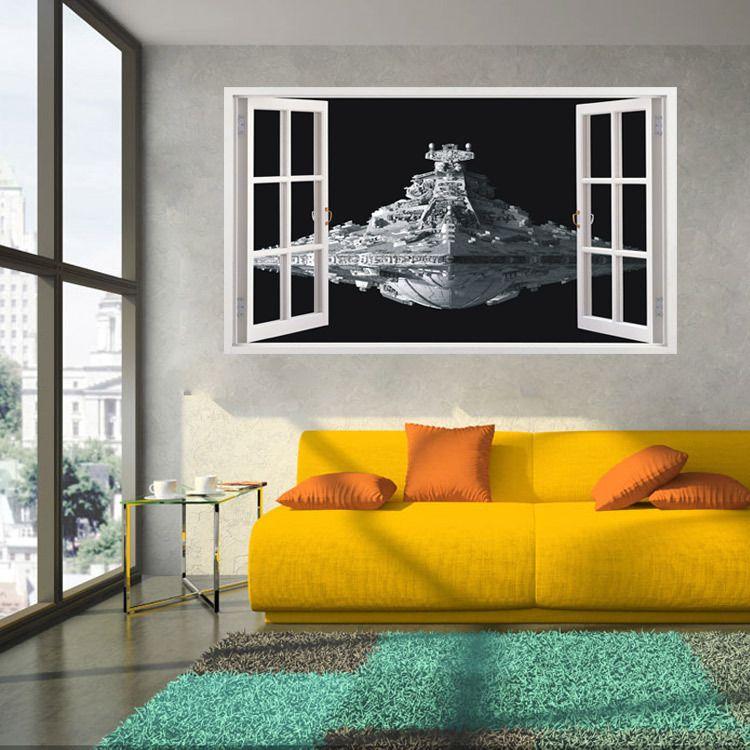 star wars Wall Stickers Decorative Sticker Home Decor Living Room Decor Bedroom