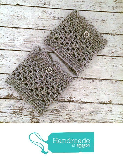 Aran Grey Boot Cuffs Crochet Tweed Short Calf Leg Warmers Handmade https://www.amazon.com/dp/B01M0YU83U/ref=hnd_sw_r_pi_dp_UeY7xbNG7F68J #handmadeatamazon